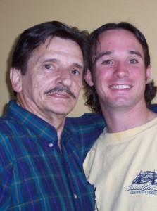 Me and Dad, April 2005