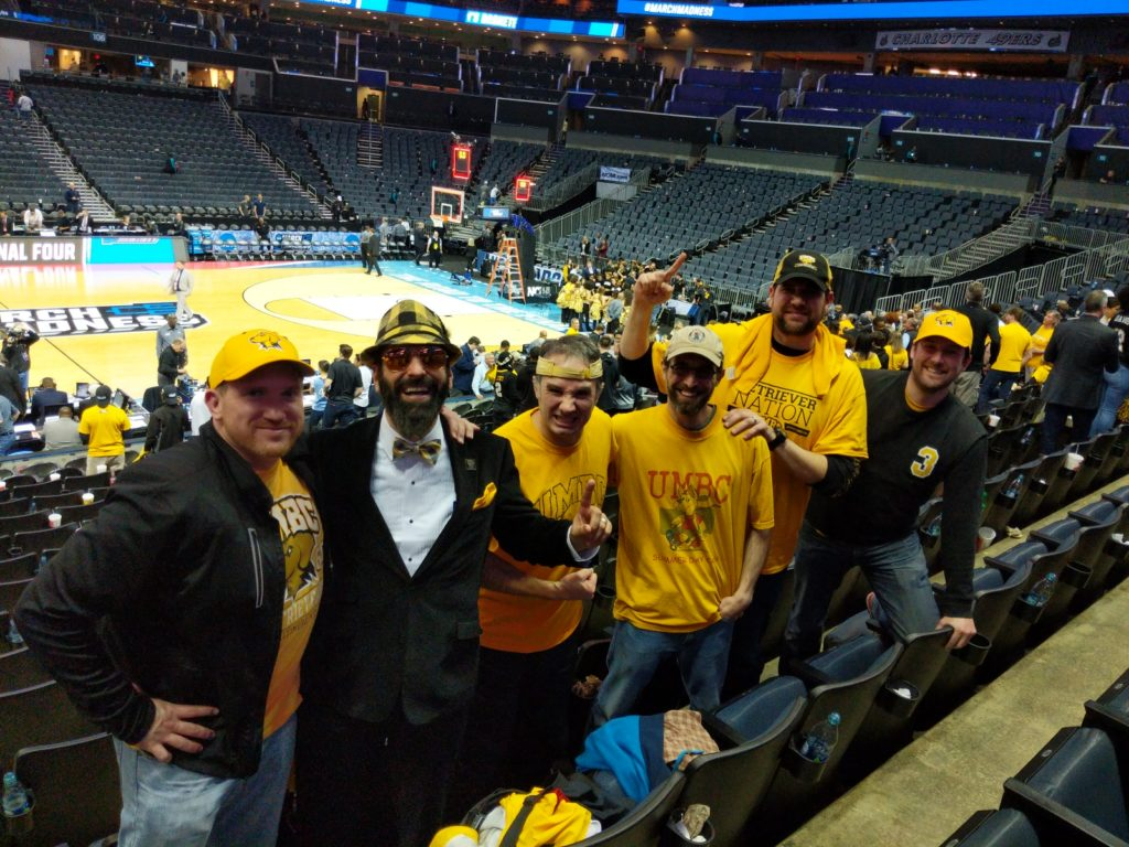 Dan, Stryker, me, Mike, Big Mike, and Drew in the Spectrum Center, Charlotte, NC.